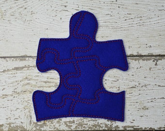 READY TO SHIP Puzzle Piece Puzzle w/Storage Pouch, Quiet Game, Toddler Toy, Travel Toy, Party Favor