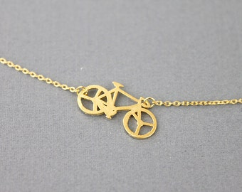 Bicycle Charm Necklace . Dainty and Delicate Necklace . Birthday Gift