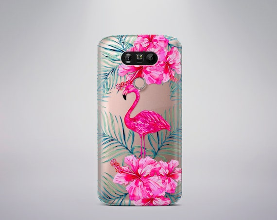 Clear Samsung Galaxy S7 Case Lg G5 Case Flamingo LG G4 case LG G5 Case Clear Floral LG G4 case Clear Note 5 cover Transparent