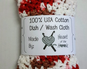 Cotton Dishcloth - crochet