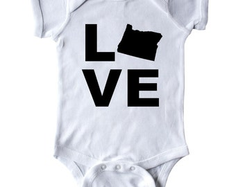 Love Oregon Infant Creeper by Inktastic