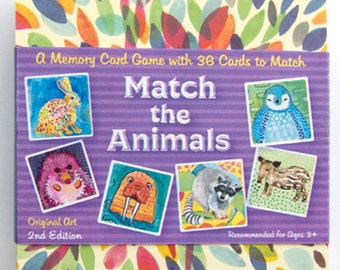 Match The Animals Memory Card Game