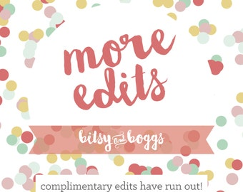 More Edits to Your Order