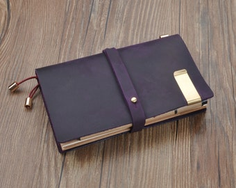35% off    Leather Traveler's Notebook Cover,   Notebook Jacket, Journal Field Notes Cover Travel Diary sketchbook