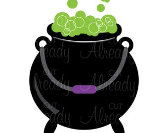 Cauldron SVG and PNG, Halloween Cauldron, cut file, Instant Download