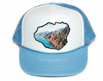 Kauai Napali coast trucker hat