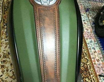 Ducati scrambler leather Tank belt Racer and Scrambler. COD Ducati