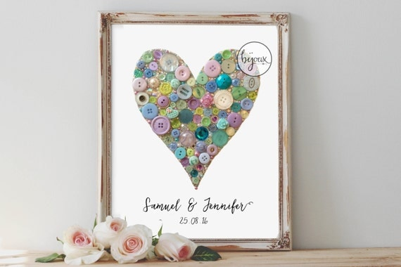Wedding Gift Wall Art : Unique Wedding Gift, Heart Wall Decor for Couple, Custom Name Custom ...