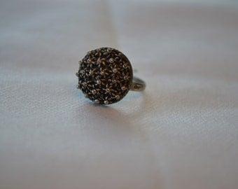 Vintage sterling silver ring of Turkish origin filigree handmade/vintage Turkish ring/vintage filigree ring/handmade ring/an.176