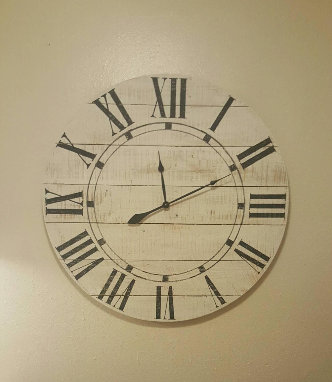 36in Riley farmhouse clock wall clock