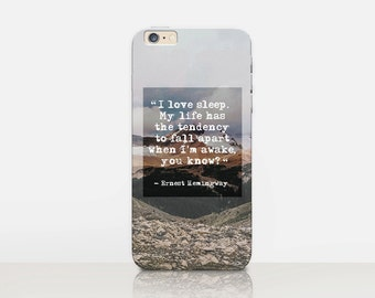 Hemingway Phone Case For - iPhone 7 Case - iPhone 7 Plus Case - iPhone SE Case - iPhone 6S case - iPhone 6 case - iPhone 5 Case  Samsung S7