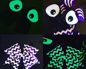 GLOW in the DARK cheer bow