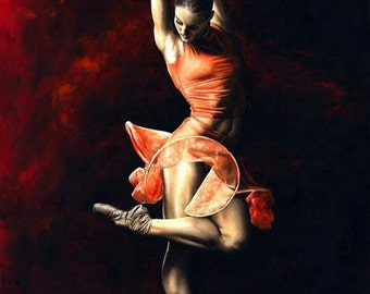 The Passion of Dance - Giclee print on canvas