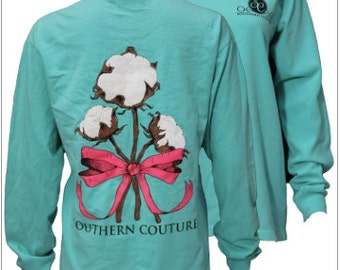 Southern Couture, Like Simply Southern, Comfort Colors, Chalky Mint, Cotton Ribbons, Short Sleeve or Long Sleeve Tee