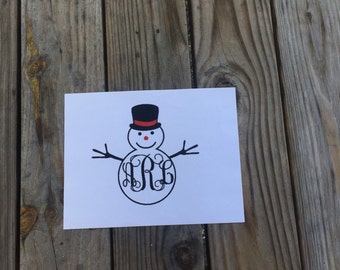 Snowman Iron-On Vinyl Decal~Glitter Snowman Vinyl Decal~ Iron-On Vinyl Decal