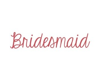 Bridesmaid Vinyl Iron-On Decal~ Glitter Iron-On Vinyl Decal~ Iron-On Vinyl Decal