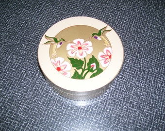 Otagiri Coasters, Coasters Set, Lacquerware Coasters, Set of 6 with Box Japan 80s Vintage