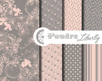Digital paper Liberty Flower Spring