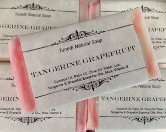 Tangerine-Grapefruit Natural Homemade Soap, Handmade soap, Natural Soap, Cold Process Lye Soap