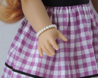 White Pearl Bracelet for American Girl Doll Maryellen and other 18 inch dolls