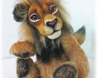 Lion Mansour (ooak author teddy bear, artist teddy bear )