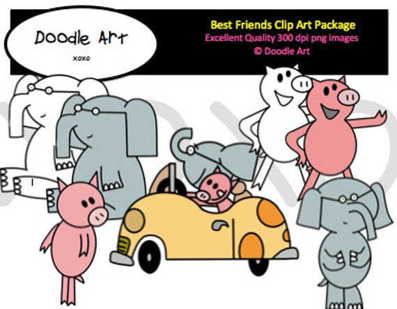 Piggie and Elephant Mega Clipart Pack