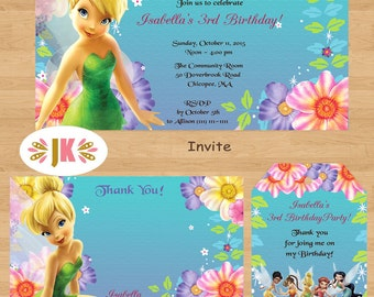 TinkerBell  Printed Birthday Invitations