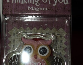 Thinking of You Owl Magnet