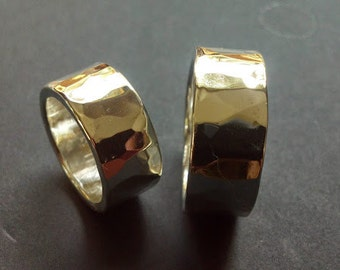 9mm Heavy Hard Hammered Ring