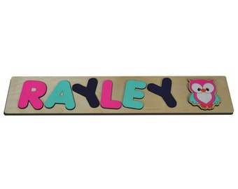 Personalized Wooden Name Puzzles With Cute Owl & Child's Name Great Educational Toy Perfect Toy For Christmas Gift 247227398
