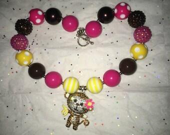 Chunky monkey necklace