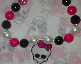 chunky necklace bubblegum necklace