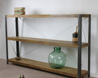 KONK! Oak/Steel - LARGE Bookcase/Bookshelf INDUSTRIAL Shelving [Bespoke sizes!]