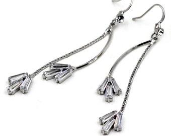 Mini flower fashion crystal earring
