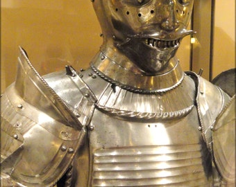 24x36 Poster . Knight Maximilian Field Armor , South Germany, 1510-1520