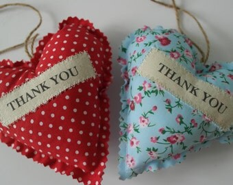 Thank you fabric gift heart