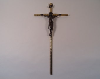 SALE!  REDUCED PRICE!  German Brass and Bronze Crucifix