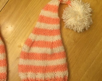 Newborn knit stocking cap