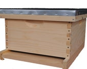 DIY Complete Bee Hive Kit with Frames and Beeswax Coated Foundation, Perfect Christmas Gift, Fathers Day Gift, Gift for her, Cool Gift, Bees