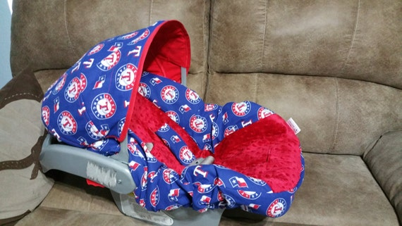 texas rangers baby accessories carseat canopy blanket