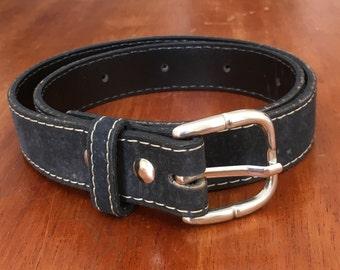 Black Belt / Waist Belt / Black / Basic / Faux Leather