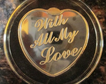 With All My Love- 1 oz Silver Heart (In capsule)