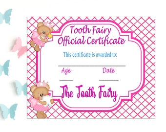 Tooth Fairy Certificate, Tooth Prop,  Tooth Fairy Receipt, Printable, Tooth Fairy Official Certificate, Tooth Fairy Report, Loose Tooth, DIY