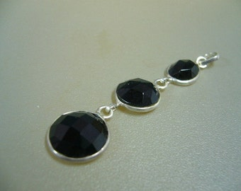Spinel Sterling Silver Pendant Necklace