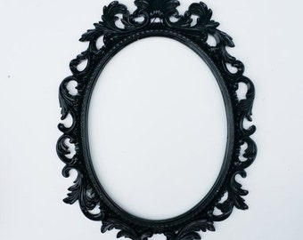 On Sale Baroque Frame, Scatter Frame, Black Open Back Oval Baroque Frame