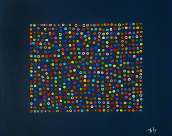 Bubble 2 abstract painting