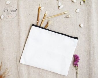 Cosmetic Bags, Make up Bags, Cotton Pouch Bags with lining.