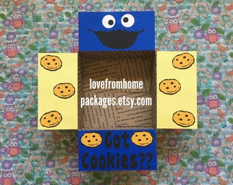 Cookie Monster Care Package Flaps