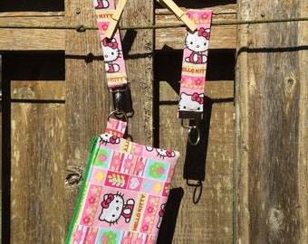 Hello Kitty Wristlet/Key Fob Set