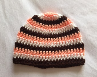 Striped Baby Hat, Multi-Colored Hat